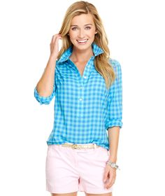 Three Color Gingham Popover