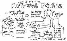 Sarah McIntyre - some thoughts on author promo for young comics creators... how to sell your books at small press comics festivals...