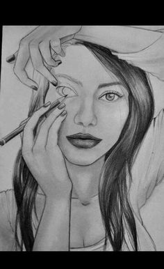 """expressive self portrait. How do you show the """"inner me? maybe a self portrait like this for my final project in drawing Amazing Drawings, Cool Drawings, Amazing Artwork, Amazing Photos, Hipster Drawings, Art Drawings Beautiful, Pretty Drawings, It's Amazing, Beautiful Artwork"""