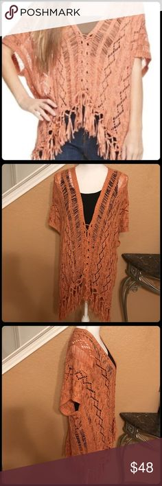 ✨🆕BOHO CROCHET TOP✨ Brand new never worn. Gorgeous with just about anything😍 Perfect for fall & winter🍂❄️ Gee Gee Tops