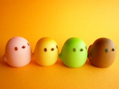 Kawaii Cute Chick Hiyoko Manju Sweets Mini Figure Toys Mascot by Kawaii Japan, via Flickr