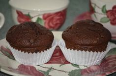 Muffins con chocolate y pipetas de chocolate - La cocinita cupcakes