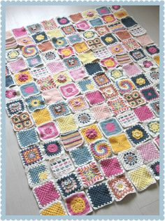 Craft Inspiration: Granny Square Challenge! Blanket with 20+ different crochet square patterns - make every square different!