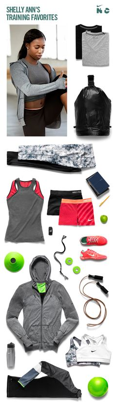 Shelly-Ann's Training Favorites. #Nike