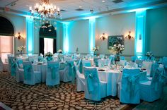 Tiffany Blue Wedding Theme | ... Wedding Details / Blue decorations & lighting. Tiffany-style theme