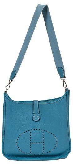 8cbb96c97291 Hermès GM Blue Jean Togo Evelyne One Kings Lane