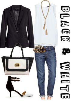 White tank + cuffed jeans + blazer + pumps