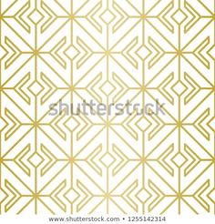 Luxury Geometric Pattern Seamless Vector Lines Stock Vector (Royalty Free) 1255142314 Golden Pattern, Geometric Lines, Background Patterns, Royalty Free Stock Photos, Graphic Design, Luxury, Illustration, Image, Illustrations
