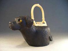 Labrador Teapot by Christy Crews Dunn