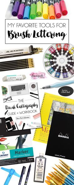 My favorite Brush Lettering Supplies and How to Learn this fun art form! | dawnnicoledesigns.com