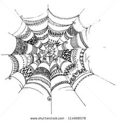 doodle spider webs...