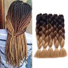 Kanekalon Jumbo Braid, Jumbo Braiding Hair, Jumbo Braids, Diy Braids, Braids Wig, Box Braids Hairstyles, Marley Braids, Marley Hair, Blonde Box Braids