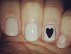 single heart on nails