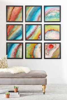 Viviana Gonzalez AGATE Inspired Watercolor Abstract 01 Framed Wall Mur | DENY Designs Home Accessories