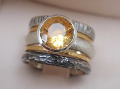 For the Outdoor Princess that wants some bling! citrine gemstone ring - sterling silver $334