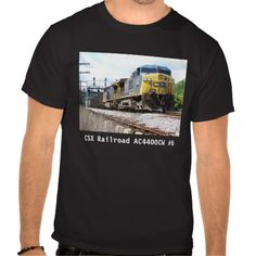 CSX Railroad AC4400CW #6 With a Coal Train Black T Shirt -SOLD- The GE AC4400CW is a 4,400 horsepower diesel-electric locomotive built by GE Transportation Systems between 1993 and 2004.