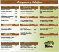 restaurante mexicano menu - Google Search