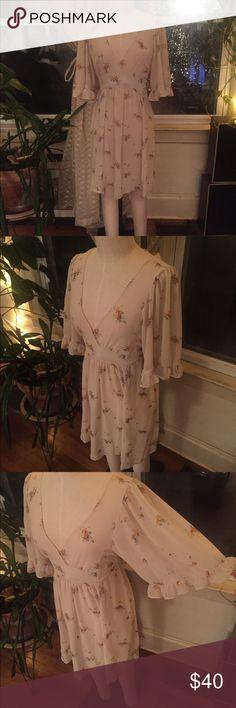 Betsy Johnson sundress Super light, flowy sundress! Size medium. Tie waist. Semi-sheer. Betsey Johnson Dresses Mini