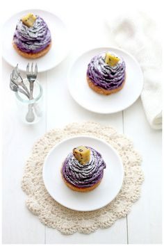 Purple Sweet Potato Mont Blanc