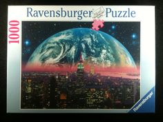 Vintage Jigsaw Puzzle, 1996 Ravensburger Earthrise Jigsaw Puzzle Featuring…