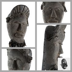 Old African Mask African Wood Carvings, African Artwork, Liberia, African Masks, African American Art, Statues, Folk Art, Dan, Lion Sculpture