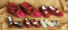 A Matter of Circumstance: 36 Six Pairs of Antique German Doll Shoes