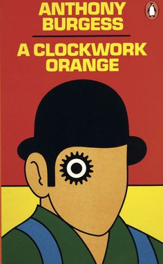 Postcards From Penguin:   100 Book Jackets in One Box - A Clockwork Orange, Anthony Burgess, 1968. Cover by David Pelham.
