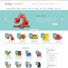 Boutique design themes are a dedicated e-commerce website.