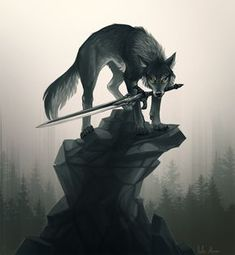 Sif from Dark Souls! It needs more fan art or is it just me who finds doggos whit sword cool. Sif Dark Souls, Arte Dark Souls, Fantasy Wolf, Fantasy Art, Mythical Creatures Art, Wolf Artwork, Wolf Love, Wolf Pictures, Wolf Spirit