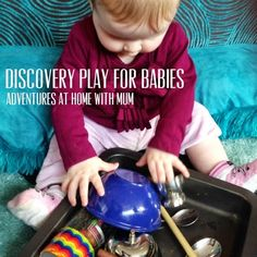 Adventures at home with Mum: Baby Sound Discovery Tray.    Easy Baby Play
