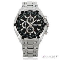 Armbanduhr Silver Star Edelstahl Silber schwarz
