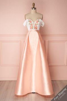 Bevin Pink #boutique1861 #dress #maxidress #prom #promdress #pink #blush #floral #floralprint #embroidery
