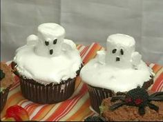 Easy ghost cup cakes