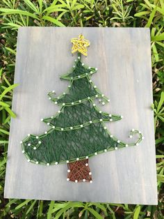 MADE TO ORDER Christmas Tree String Art Wooden by StringSimply