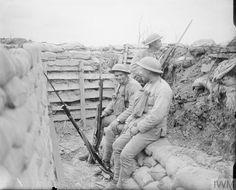 WWI, 24 June 1917; Sentry in the Portuguese front line near Neuve Chapelle. ©IWM Q 6442