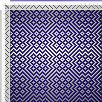 Drawdown Image: Threading Draft from Divisional Profile, Tieup: Crackle Design Project, Draft #13335, 4S, 4T