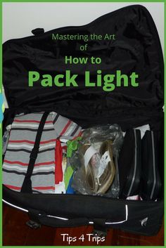 7 Tips to Pack Light