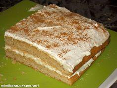 Medovo skořicové řezy bezlepkové   Mimibazar.cz Gluten Free Desserts, Vanilla Cake, Sandwiches, Pudding, Food, Glutenfree, Gardening, Gluten Free, Custard Pudding