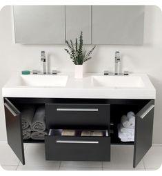 66+ Modern Bathroom Floating Sink Decor http://seragidecor.com/66-modern-bathroom-floating-sink-decor/