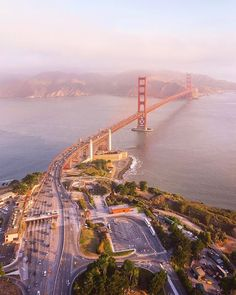 San Fancisco Architecture : ***Aerial view (Golden Gate Bridge, San Francisco, California) by Toby Harriman … San Francisco Sites, San Francisco Travel, San Francisco California, California Usa, San Francisco Skyline, San Francisco Bay, Southern California, Puente Golden Gate, Places To Travel