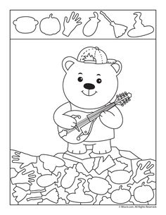 Teddy Bear I Spy Hidden Picture Page