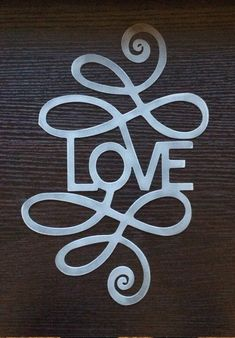 Valentine's Day Decoration - Plasma Cut LOVE with Scrolls - FREE SHIPPING by MyMetalWorks on Etsy