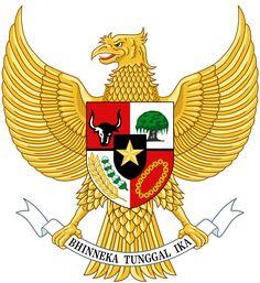 Berkas:National emblem of Indonesia Garuda Pancasila. Metal Bird Bath, Metal Birds, Maurice Denis, Small Bird Cage, Small Birds, Rajasthan Inde, Nest Logo, Vietnam, Creative Economy