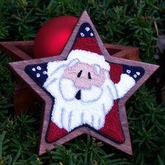 Super Star Santa Punch Needle | Myrtle Grace Motifs