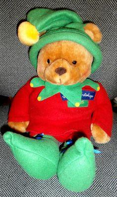 Hallmark~Santa's Workshop Plush Stocking Bear Elf # 25 LNC Christmas Elf, Holiday, Santas Workshop, Dinosaur Stuffed Animal, Plush, Stockings, Bear, Toys, Animals