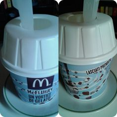 Collage #collage cup 19.6.2014 h3pm~ Finally-for lunch- my lovely cute funny mcflurry from @ Mc #mcflurry#mc#icecream #pan#smarties #sugar a gogo go! I; 400k.x200ml (1p.) 7carb.55sugar.7protein.5/9fat.2fiber. Try with cocco*me*. #colors#rainbow#colorful#takeaway at @ home. Thanks mum! -after 1year…