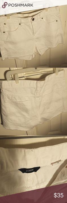 J Crew distressed denim shorts J Crew white distressed denim cutoff shorts NWOT J. Crew Shorts Jean Shorts