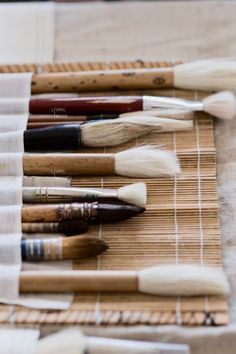 brushes display makeup brushes this way