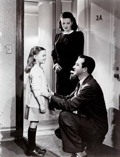 Natalie Wood, John Payne and Maureen O'Hara, Miracle on 34th Street (20th Century Fox production, 1947