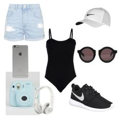 """Untitled #50"" by hannaahmariie on Polyvore featuring Baguette....., Topshop, NIKE, House of Holland, Beats by Dr. Dre and Incase"